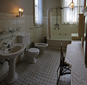 Shower Curtain Prints - Haas Lilienthal House Victorian Bath - San Francisco Print by Daniel Hagerman