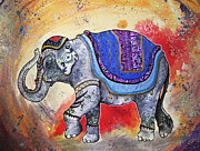 Indian Ink Painting Framed Prints - Haathi  Framed Print by Sydney Zmitrewicz