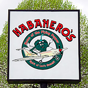 Advertisement Prints - Habaneros Home Of The Flying Pepper Sign 1 Print by Andee Photography