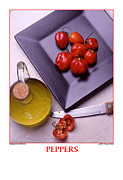Wooden Bowl Prints - Haberno Peppers Print by Jerry Taliaferro