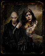 Man And Woman Posters - Habitantes de Dark  Poster by Raul Villalba