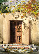 Adobe Metal Prints - Hacienda Gate Metal Print by Sam Sidders