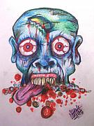 Grotesque Drawings - Hacked Dead Alive by Sam Hane