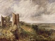 Rain Cloud Posters - Hadleigh Castle Poster by John Constable
