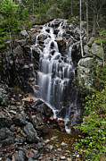 Maine Photographs Prints - Hadlock Falls Acadia Print by Rick Berk