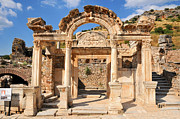 Selcuk Framed Prints - Hadrians Temple  Ephesus Framed Print by Michael Oakes