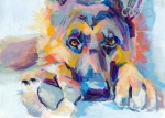 Dog Paw Paintings - Hagen by Kimberly Santini