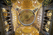 Byzantine Framed Prints - Hagia Sophia Ceiling Framed Print by Artur Bogacki