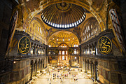 Hagia Sophia Photo Framed Prints - Hagia Sophia Interior Framed Print by Artur Bogacki
