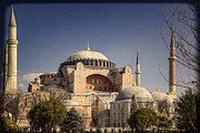 Byzantine Posters - Hagia Sophia Poster by Joan Carroll