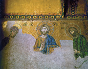 Byzantine Photos - Hagia Sophia: Mosaic by Granger