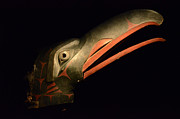 Ancient Indian Art Metal Prints - Haida Carved Wooden Mask 3 Metal Print by Bob Christopher