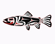 Trout Digital Art Prints - Haida Trout Print by Rob Tullis