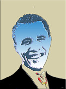 Barack Obama Art Prints Prints - Hail To The Chief Print by Robert Margetts