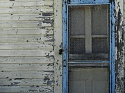 White Frame House Prints - Haint blue door frame with peeling paint Print by Robert Ulmer
