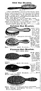 Montgomery Prints - Hair Brushes, 1895 Print by Granger