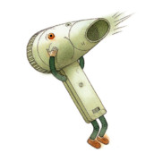 Wind Drawings - Hairdryer by Kestutis Kasparavicius