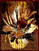 Home Decor Mixed Media - HairFlower Arrangement by Sarah Loft