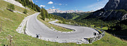 Road Travel Framed Prints - Hairpin Turn, Passo Gardena, Dolomites, South Tyrol, Trentino-alto Adige, Italy Framed Print by Martin Ruegner