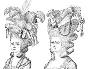 18th Century Prints - HAIRSTYLE, 18th CENTURY Print by Granger