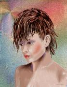 Hairstyle Of Colors Print by Arline Wagner