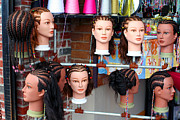 Coif Prints - Hairstyles On Mannequins Print by Susan Stevenson