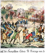 Rebellion Framed Prints - Haiti: Slave Revolt, 1791 Framed Print by Granger