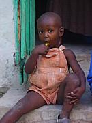 Haitian Photos - Haitian Boy by Kelly Statham