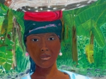 Haitian Painting Framed Prints - Haitian Woman   2 Framed Print by Nicole Jean-Louis