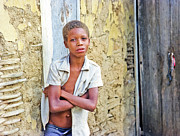 Johnny Sandaire - Haitien boy leaning on wall