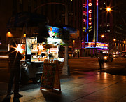 Outdoor Theater Framed Prints - Halal Vendor at Radio City Music Hall Framed Print by Lee Dos Santos