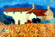 Cortijo Paintings - Halcyon hideaway by Valerie Anne Kelly