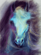 Horse Art Pastels Framed Prints - Halcyon Framed Print by Kim McElroy