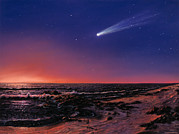 Comet Hale-bopp Framed Prints - Hale-bopp Comet Framed Print by Chris Butler