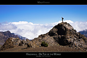 Rocky Mountain National Park Posters Posters - Haleakala - On Top of the World - Maui Hawaii Posters Series Poster by Denis Dore
