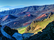 Island Photos Photos - Haleakala Crater 2 by Ken Smith
