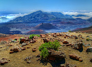 Island Photos Photos - Haleakala Crater 3 by Ken Smith