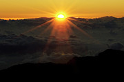 First Light Prints - Haleakala Sunrise Print by Bob Christopher