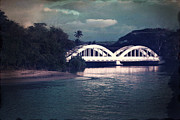 Paul Topp Framed Prints - Haleiwa Bridge Framed Print by Paul Topp