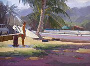Shower Painting Framed Prints - Haleiwa Epilogue Framed Print by Richard Robinson