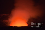 Featured Art - Halemaumau Crater Erupting by Greg Dimijian