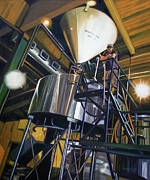 Industrial Painting Prints - Hales Ales  Composition in Secondary Color Print by Gregg Hinlicky