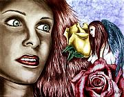 Angel Drawings - Haleys Apparition Colored by Peter Piatt