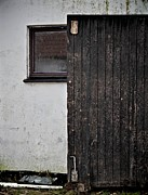 Barn Door Framed Prints - Half And Half Framed Print by Odd Jeppesen