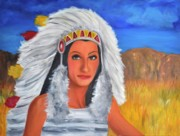 Rock And Roll Painting Originals - Half breed by Mitchell Todd