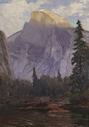 Pine Trees Painting Metal Prints - Half Dome Metal Print by Christian Jorgensen