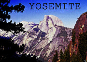 Yosemite National Park Digital Art - Half Dome by David Lee Thompson