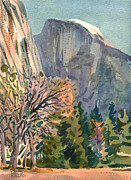 Half Dome Painting Prints - Half Dome Print by Donald Maier