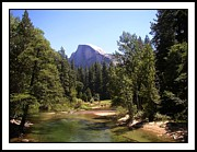 Merced River Prints - Half Dome From Ahwanee Bridge - Yosemite Print by Glenn McCarthy Art and Photography