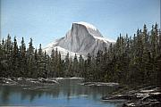 Half Dome Painting Prints - Half Dome II Print by Richard Fowler